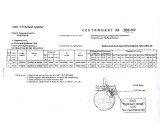 Сертификат качества на товар Труба № 40х3 оцинкованная