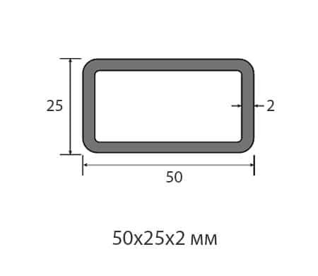 Профильная труба 50х25х2
