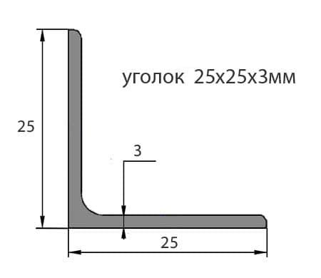 Уголок № 25х25х3