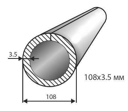 Труба № 108х3