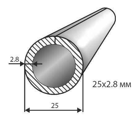 Труба № 25х2,8