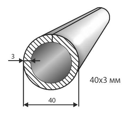 Труба № 40х3
